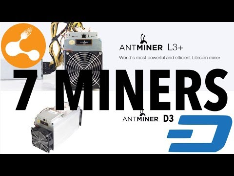 Bitmain 7 Antminers | 4 X D3 15GH/s / 3 X L3 504 MH/s Asic Miners - Mining Dash And BCC Tokens