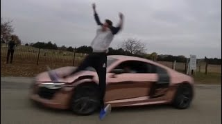 Funny Video: Backflipping Over An Audi R8 Fail