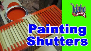 How To Paint House Shutters. Home Improvement Painting Tips