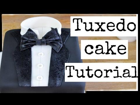 how-to-make-a-fondant-shirt-&-tie-cake-|-bachelor-party-cake-design-|-easy-tuxedo-cake