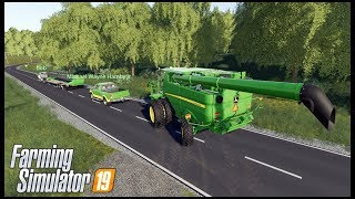 WIDELOAD STUCK ON NARROW BACK ROAD - MULTIPLAYER - Farming Simulator 19