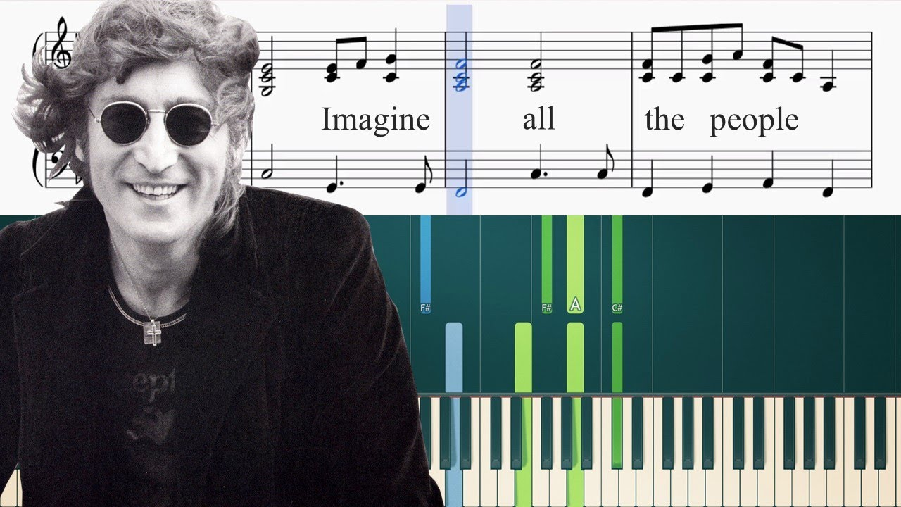 John Lennon - Imagine - Piano Tutorial + Sheets