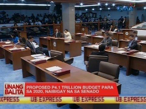 UB: Proposed P4.1 trillion budget para sa 2020, naibigay na sa Senado