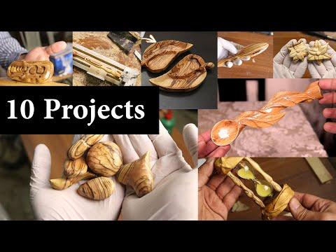 10 Simple Wood Carving Dremel Projects, Using Rotary Tool - Olive Wood Crafts
