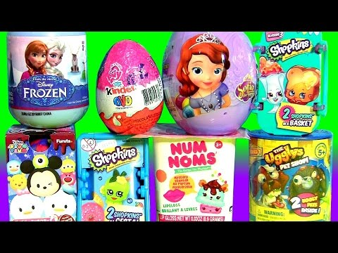 SURPRISE BOXES Ugglys Pet Shope, NUM NOMS, Furuta Disney Tsum Tsum, Kinder My Little Pony MLP