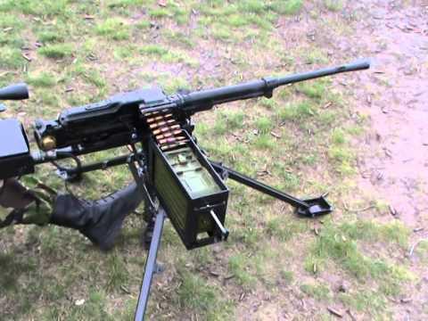 Tripod-mounted PKT machine gun
