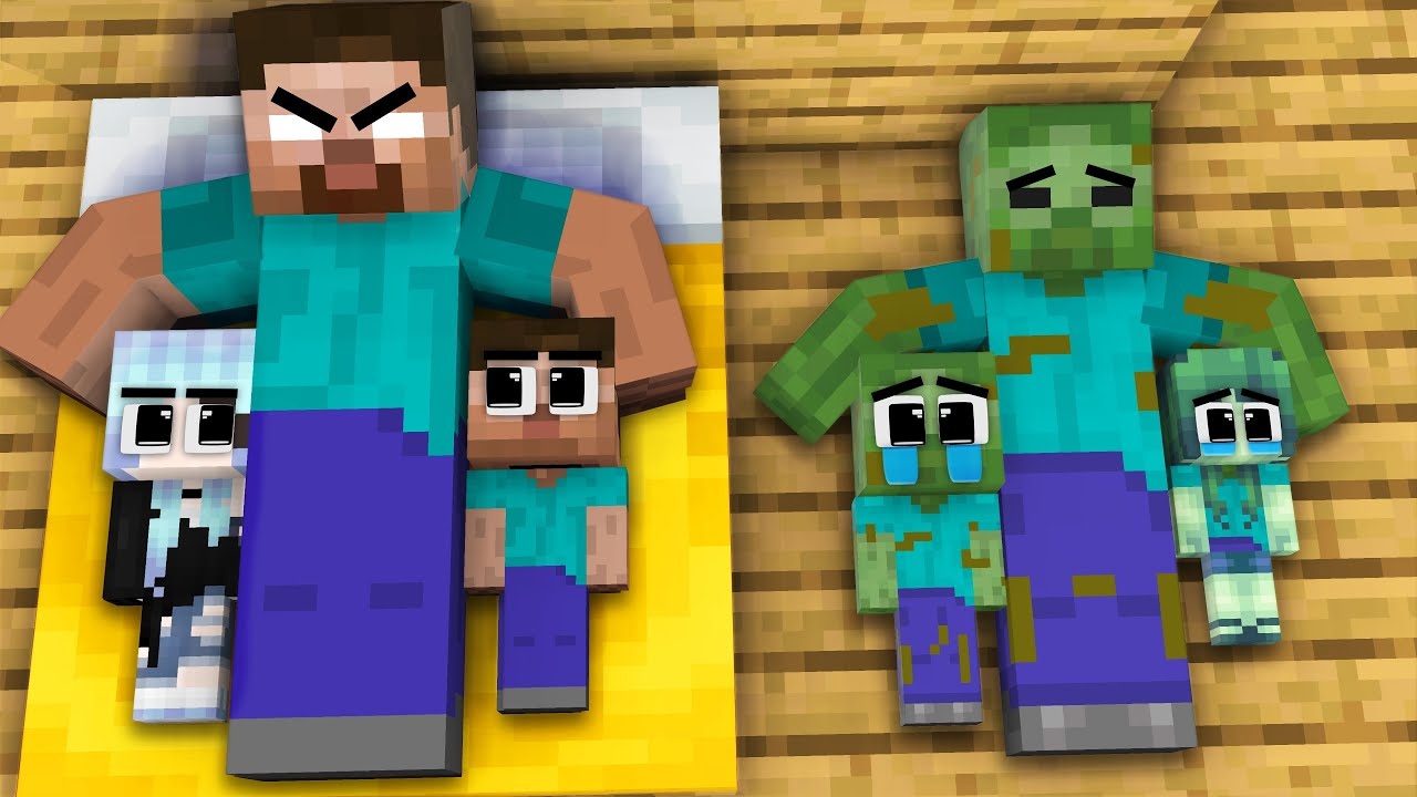 Monster School : Brother Baby Zombie and Gold Sister - Sad Story - Minecraft Animation