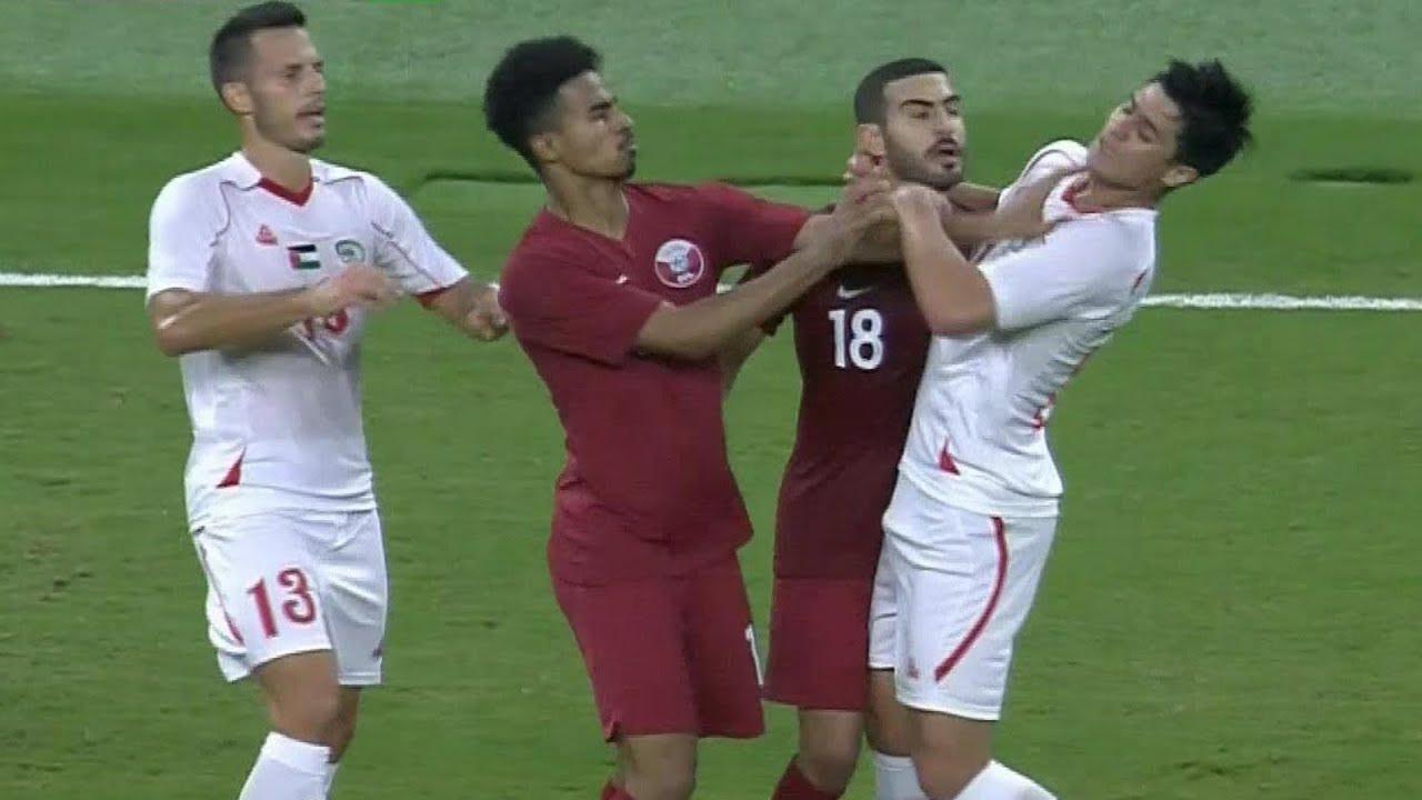 ملخص مباراة قطر 3-0 فلسطين   مباراة دولية ودية 2018/9/11
