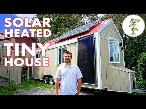 Living in a Mortgage-Free Tiny House Heated with Solar Power - Tour & Interview