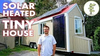 Living In A Tiny House Heated With Free Solar Power In Canada