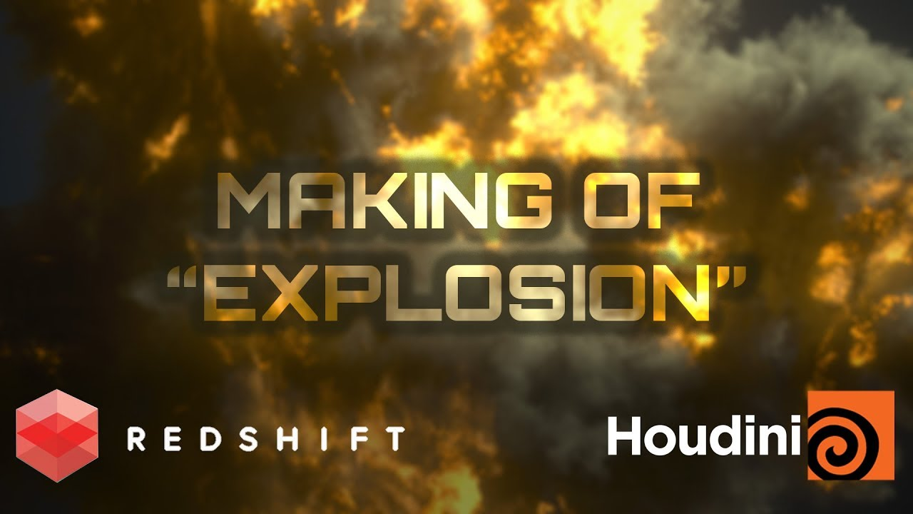 Creating a simple explosion in Houdini and Redshift  Timelapse