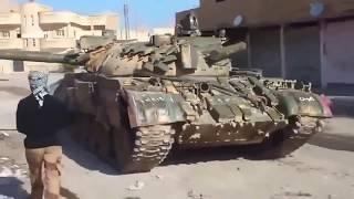 Война в Сирии.  Прямое попадание и танк ИГИЛ  уничтожен