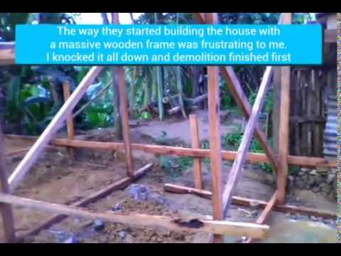 Building a house in Southern Leyte Philippines part 3. Massive wooden frames WTF?