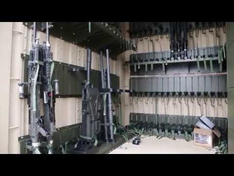 Military Shipping Container + Weapons Storage System from Spacesaver