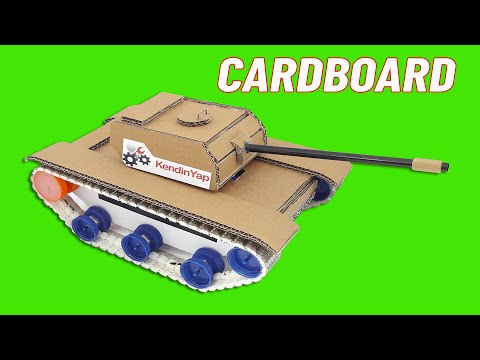 Making RC Tank With Cardboard At Home. DIY RC Tank