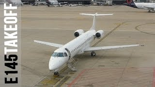 Departure from Brussels Airport, BMI Regional/Brussels Airlines Embraer E145