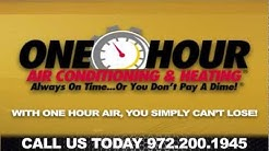 One Hour Air Carrollton Texas HVAC Heater Repair  972-200-1945