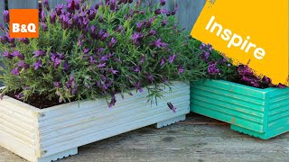 How to build a planter from decking