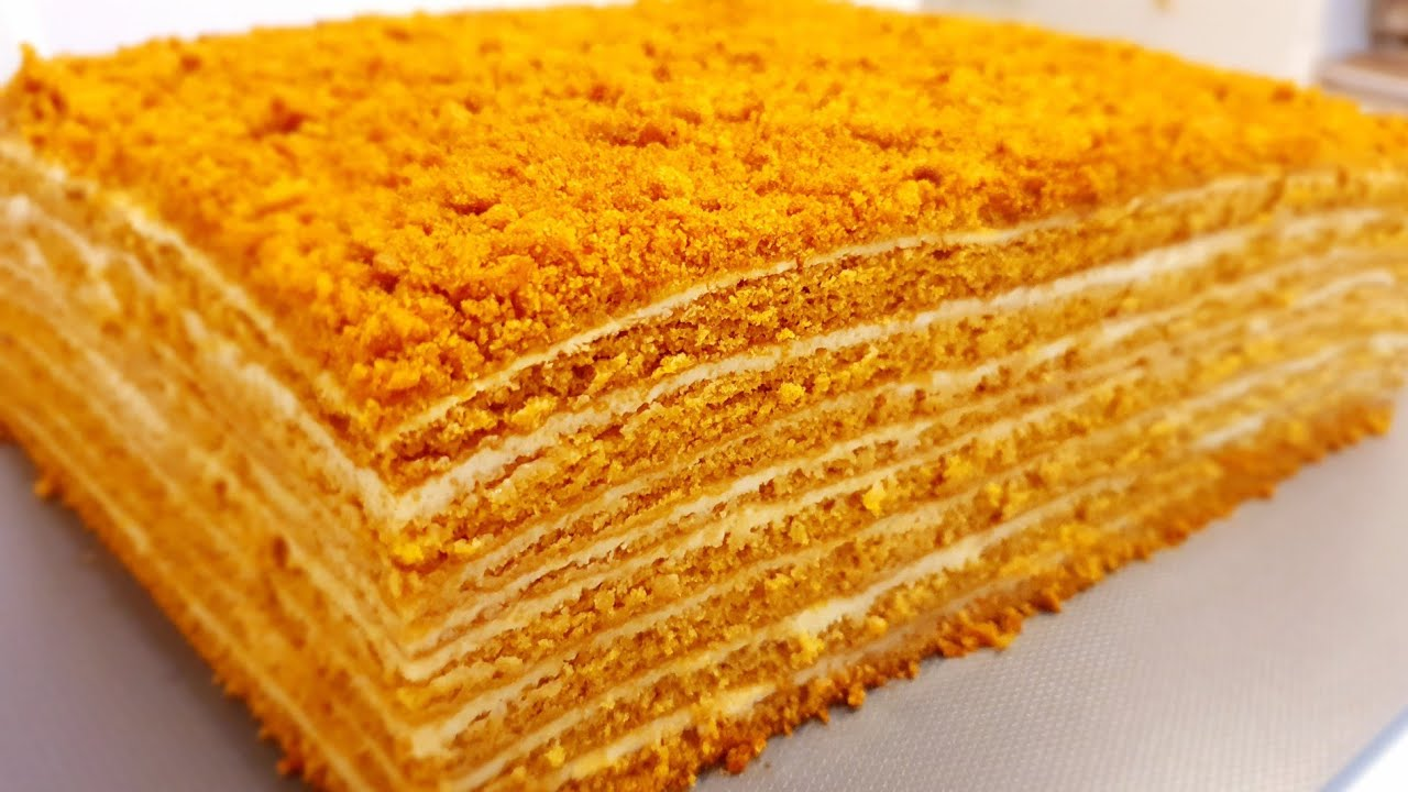 МЕДОВИК за 30 минут!!! Идеальный рецепт! Энг осон мазали Асалли торт! Honey cake!