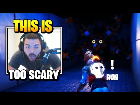 Courage TERRIFIED Playing This *SCARY* HORROR MAP | Fortnite Daily Funny Moments Ep.456