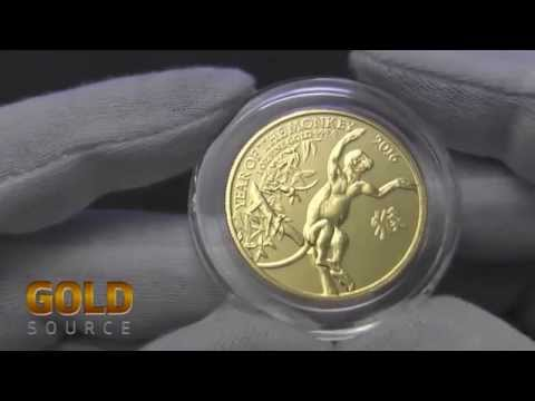 Year of The Monkey 1ozt Gold Coin Royal Mint