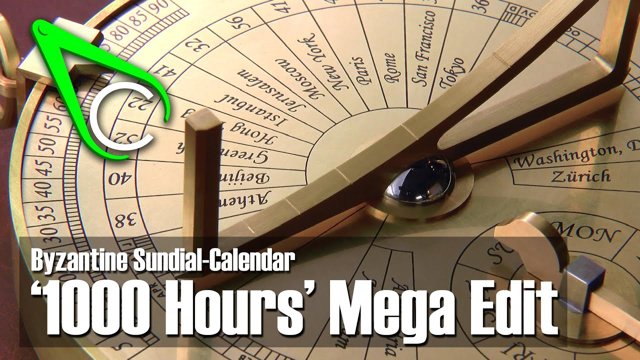 Byzantine Sundial-Calendar '1000 Hrs' Mega Edit