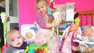 ТЫ СПИШЬ БРАТ ДЖОН Кукла Беби Борн Катя  Эльвира кормит кукол Игры для детей baby born КАК МАМА