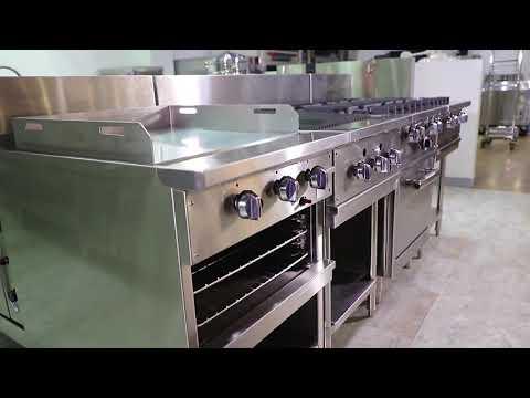 Hotel Restaurant 900 Series Commercial Stainless Steel Kitchen Equipment Gas Range Stove
