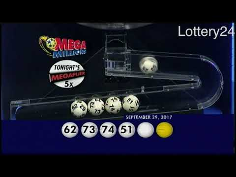 2017 09 29 Mega Millions Numbers and draw results