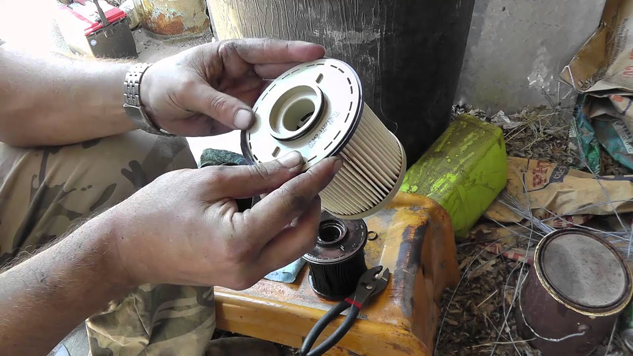 hight resolution of 97 dodge cummins fuel filter change youtube
