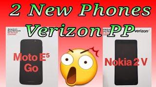 2 New Phones!!! NOKIA 2 V / MOTO E5 GO REVIEW OF SPECS VERIZON PREPAID