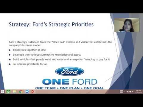 Strategy Ford Motor Company