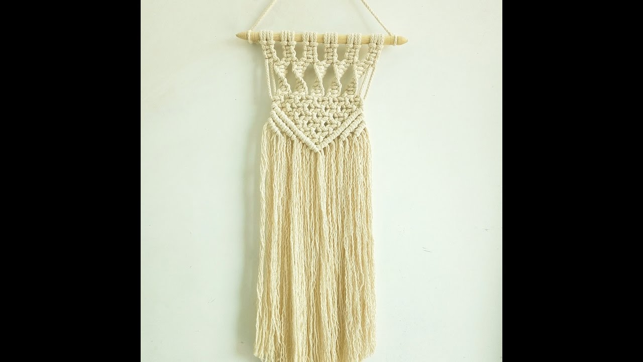 Diy How To Make Macrame Wall Hanging Tutorial Wall Decor