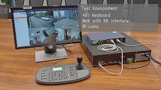 How to connect 485 keyboard to Hikvision DVR/NVR