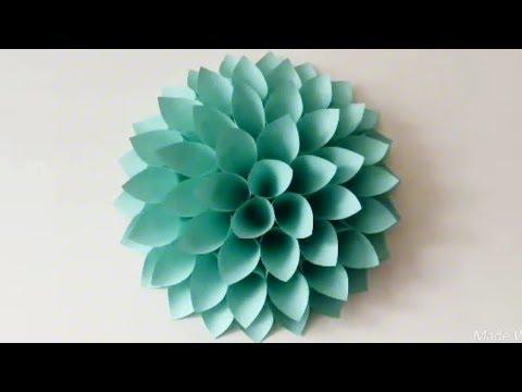 Cara Membuat Bunga Untuk Hiasan Dinding Youtube