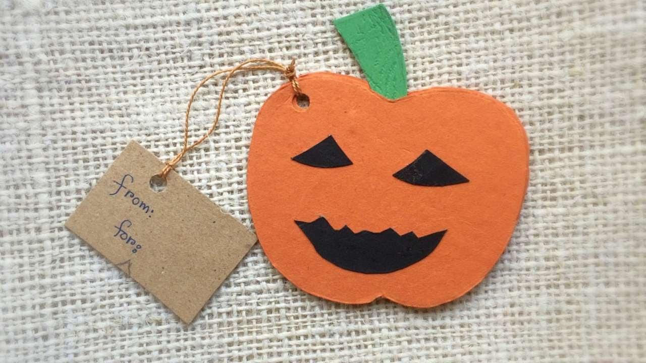 how to create a cute halloween pumpkin card diy crafts tutorial