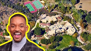 10 Most EXPENSIVE Houses of Famous Actors (Will Smith, Oprah, Tiger Woods, Brad Pitt)