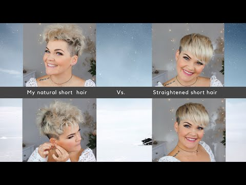 How I Straighten And Style My Pixie Cut | Before And After