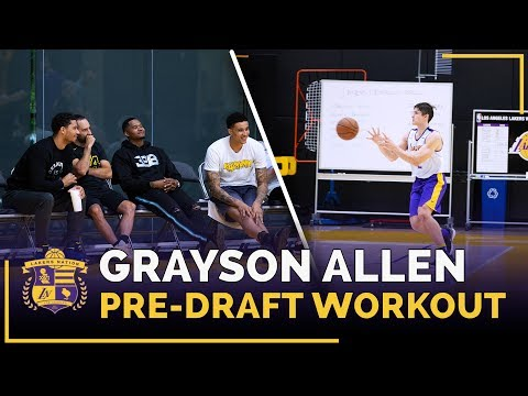 Kyle Kuzma, Josh Hart Watch Duke Guard Grayson Allen's Lakers Pre-Draft Workout