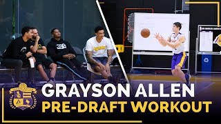 Kyle Kuzma, Josh Hart Watch Duke Guard Grayson Allen's Lakers Pre-Draft Workout