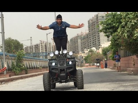 FOR THE FIRST TIME IN INDIA ATV QUAD/BIKE STUNTS !!