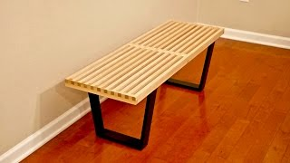In this video, I build a DIY mid-century modern slatted bench modeled after the iconic Nelson Platform Bench, designed by George...