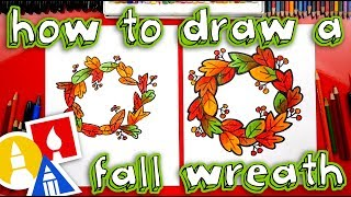 How To Draw A Fall Wreath