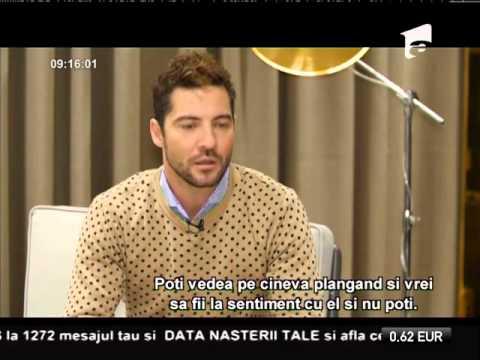 "David Bisbal, mărturisiri în EXCLUSIVITATE, la ""Neatza"""