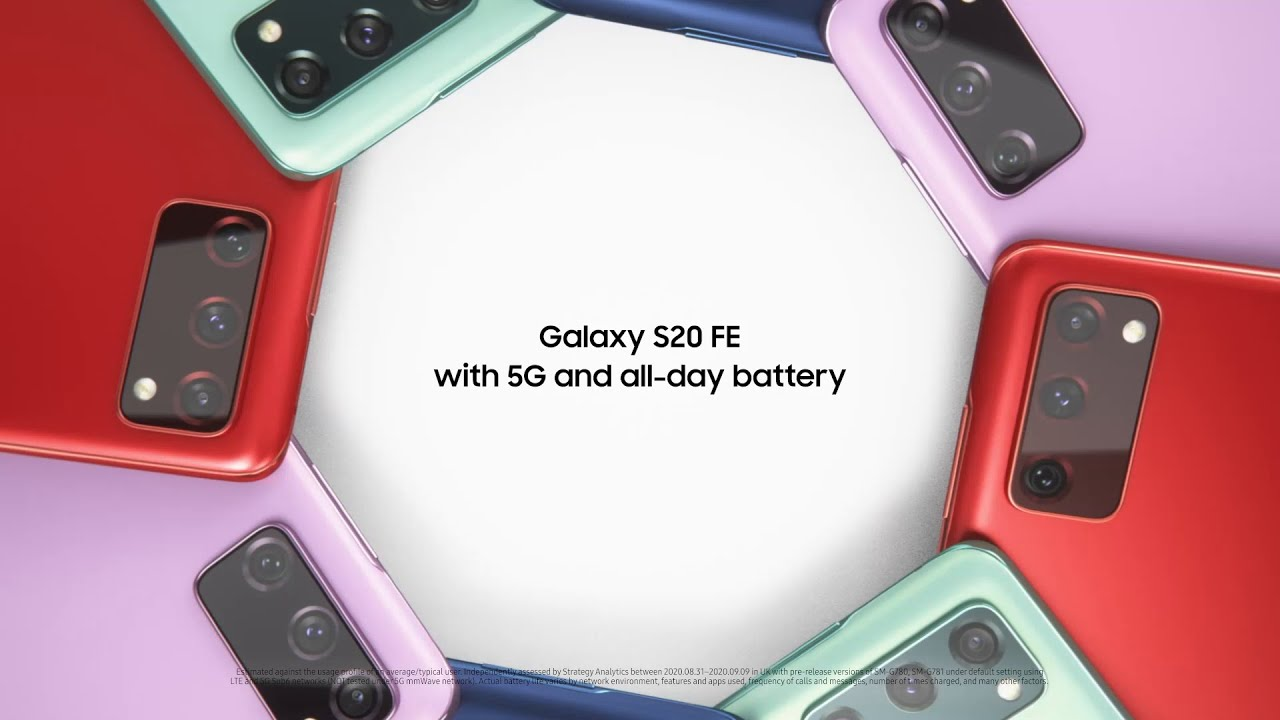 Galaxy S20 FE: 5G and All-day battery