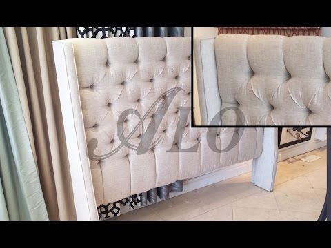 DIY: TUFTED HEADBOARD WITH WINGS - ALO Upholstery