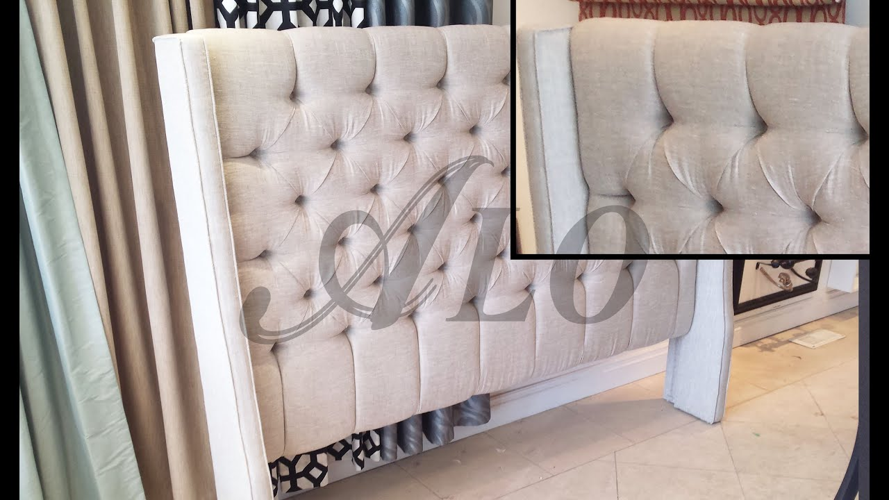 DIY: TUFTED HEADBOARD WITH WINGS - ALO Upholstery - YouTube