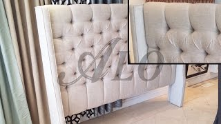 Diy: Tufted Headboard With Wings - Aloworld