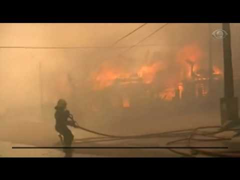 Incêndio destrói 140 casas em Valparaíso, no Chile