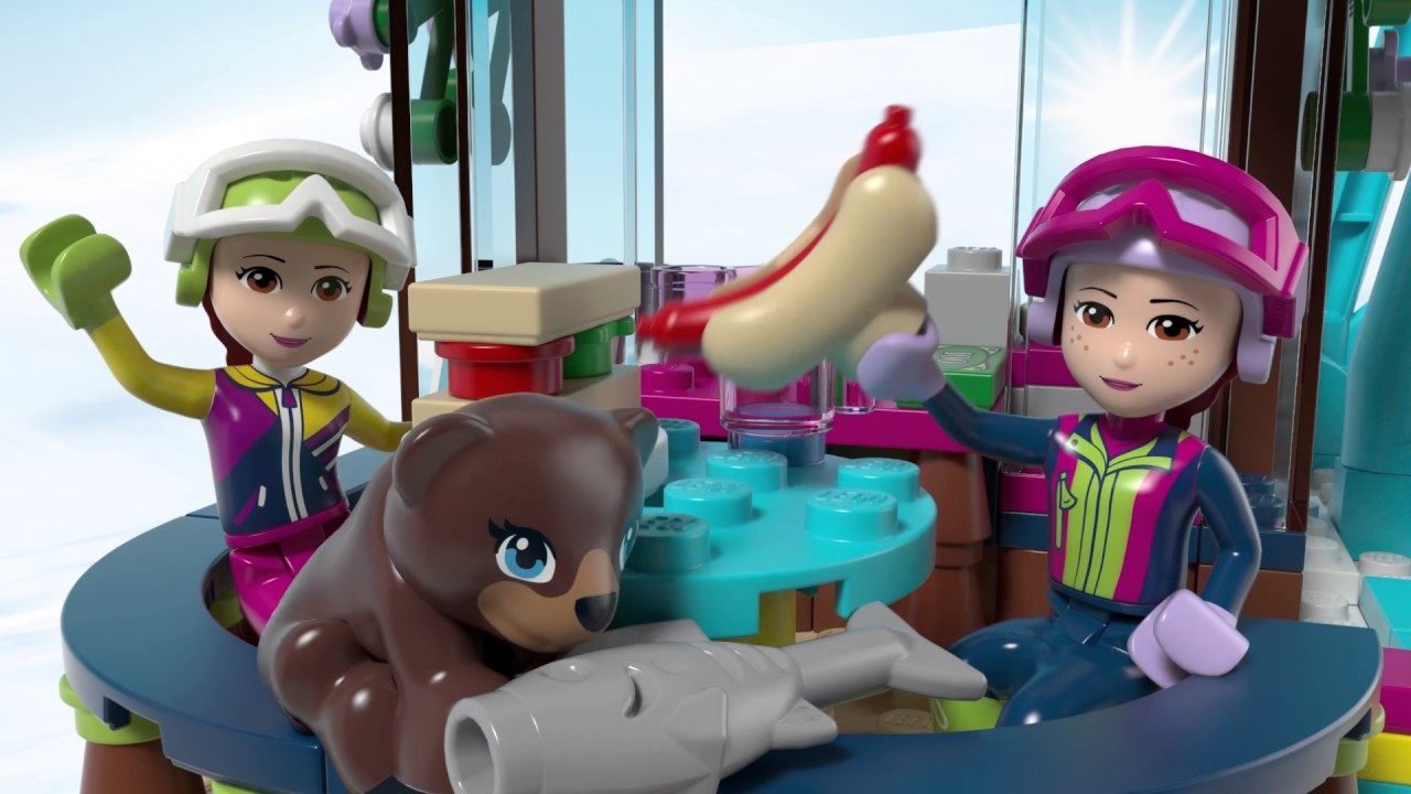 lego friends snow resort ski lift instructions